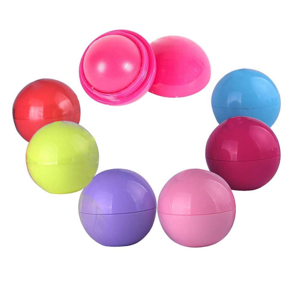 Bittb Nette Runde Lip Balm Ball Feuchtigkeitsspendende Lippen Obst Geschmack Lip Stick Smacker Lippenstift Lipbalm Make-Up Werkzeuge Lipsmacker
