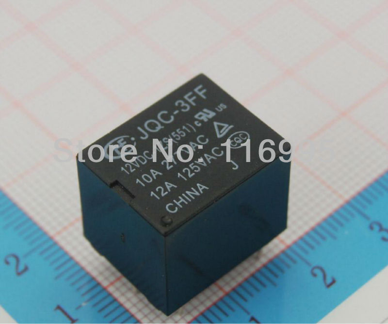 FREE SHIPPING  JQC-3FF-005-012-024-1ZS Power Relay 5V/12V/24VDC PCB Type  4PIN  5PCS