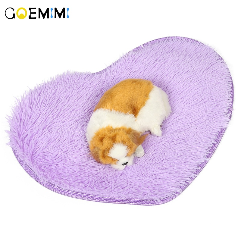 2019 Dog Bed Mat Pet Cushion Blanket Heart Shape Puppy Cat Fleece Beds For Small Large Dogs Cats Pad Chihuahua Cama Perro