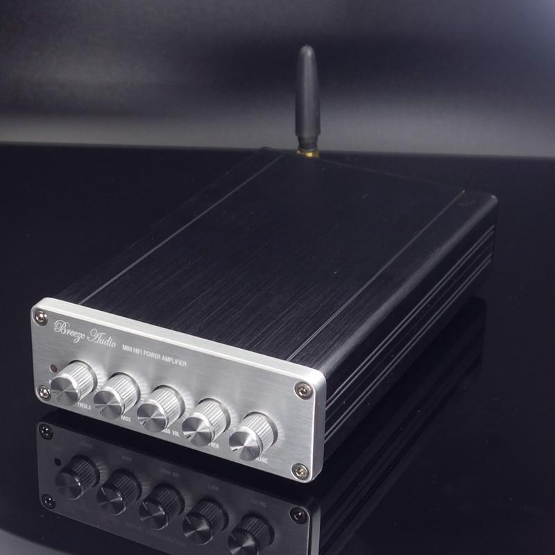 WEILIANG аудио DP1 TPA3116 2,1 класс D Мини цифровой усилитель мощности bluetooth 5,0 выходная мощность 50 Вт * 2 + 100 Вт