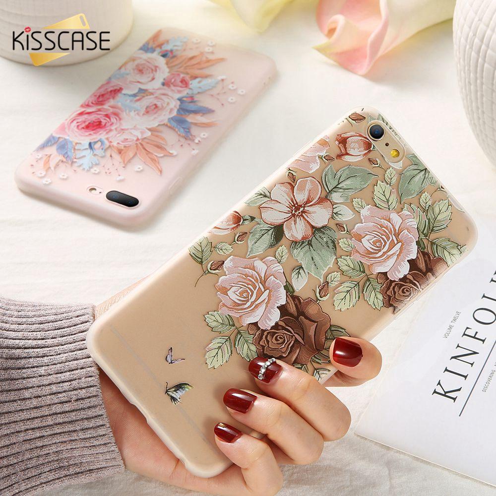KISSCASE Flower Silicon Phone Case For Samsung Galaxy A50 A30 A20 A40 A70 A7 A6 A8 A9 Pro 2018 A3 A5 A7 2017 2016 Soft Case