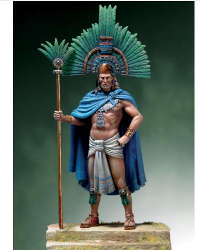 Leader Moctezuma II, juguete de resina de 54mm de 1/32, Kit de miniaturas de modelismo sin montar sin pintar