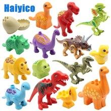 Bildung Montage Große Bausteine Jurassic Dinosaurier Modell ergänzung Zubehör Kompatibel Duplos kind Langlebig Spielzeug Geschenk