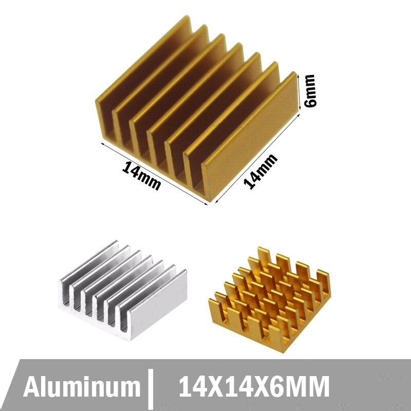 50 piezas 80 MM 80 14x14x6 MM disipador de calor de aluminio Chip CPU GPU VGA RAM LED IC disipador de calor radiador frío