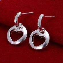 ZGNUWYPS – boucles doreilles en forme de cœur pour femmes, boucles doreilles plaquées, ajouré, couleur argent, FMDQNAMY
