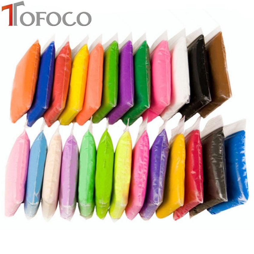 TOFOCO, 1 Juego de arcilla plastilina súper ligera, arcilla de modelado de polímero blando con herramientas DIY, plastilina, juguetes anti estrés para niños