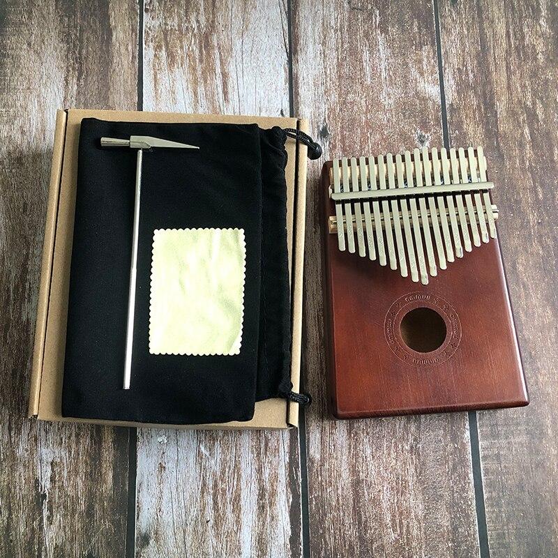 17 Key Finger Kalimba Mbira Sanza Thumb Piano Pocket Size Supporting Bag Keyboard Marimba Wood Musical Instrument New Kalimba enlarge