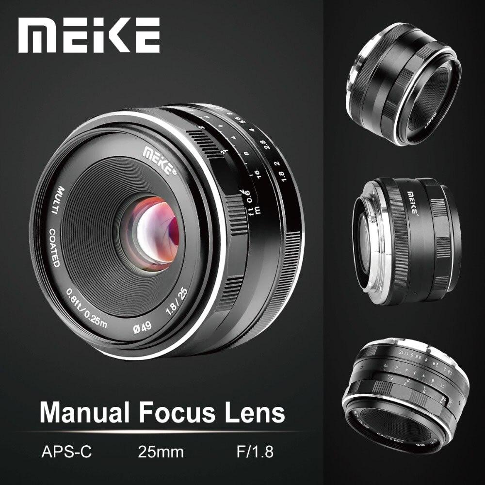 Meike 25 мм F1.8 широкоугольный ручной APS-C объектива для Fuji X-mount/для Sony E Mount/для Panasonic Olympus Camera A7 A7II A7RII