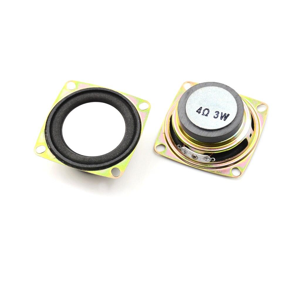 2 unids/lote 2 pulgadas 4 Ohm 3W 52MM altavoz de Audio Gama Completa DIY Mini estéreo accesorios para cajas Multimedia altavoz