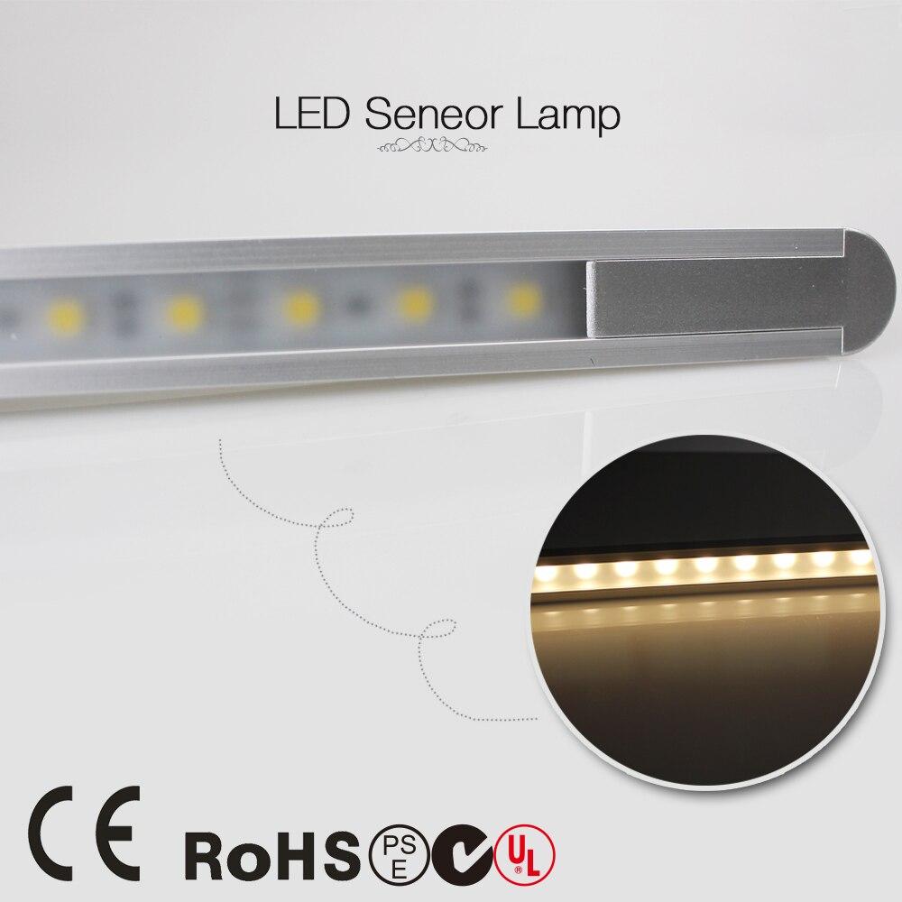 50 سنتيمتر 360LM 24 المصابيح 5050 LED PIR الأشعة تحت الحمراء الحركة الاستشعار أضواء شريط الكاشف مصباح 5.8W 0.5m 12V خزانة ليلة مجلس الوزراء ضوء أنبوب