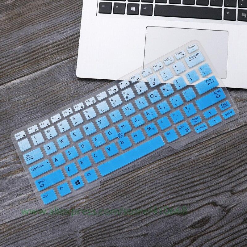 Para Dell Latitude E5450 E5470 7490 3340 E3340 E7450 5491 14 pulgadas de silicona portátil cubierta del teclado del portátil Protector de la piel