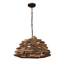 Lustre créatif personnalité art lampe style chinois lampes en bois massif salon de thé thé table minimaliste Zen éclairage