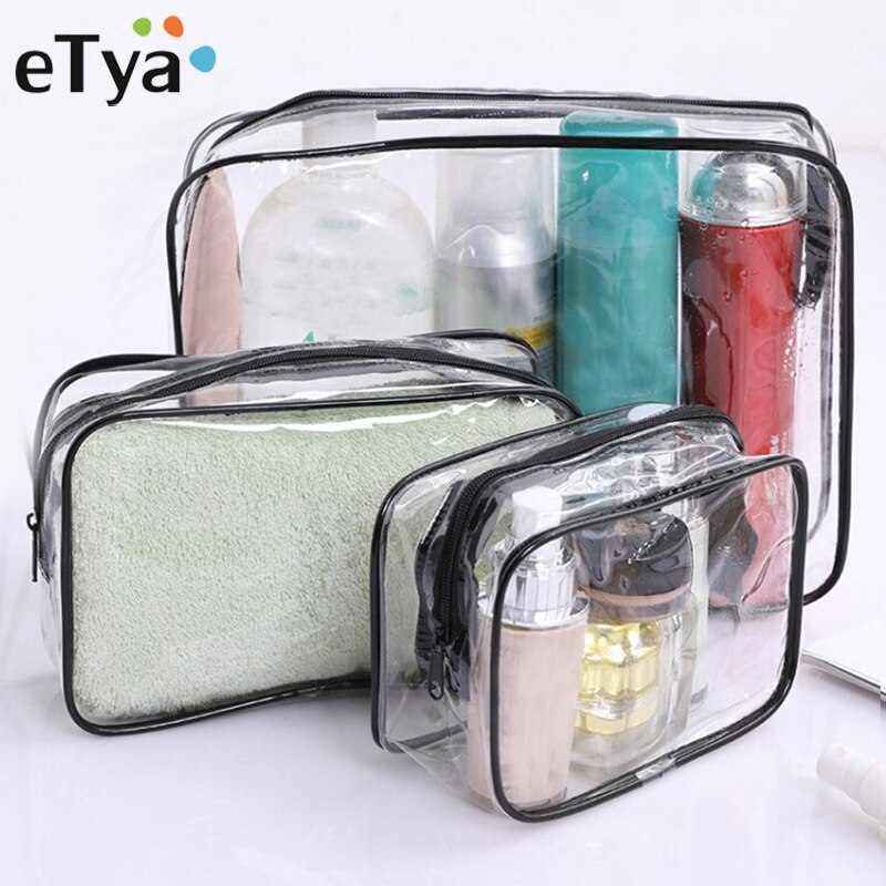 Travel Transparent Cosmetic Bag PVC Women Zipper Clear Makeup Bags Beauty Case Make Up Organizer Sto