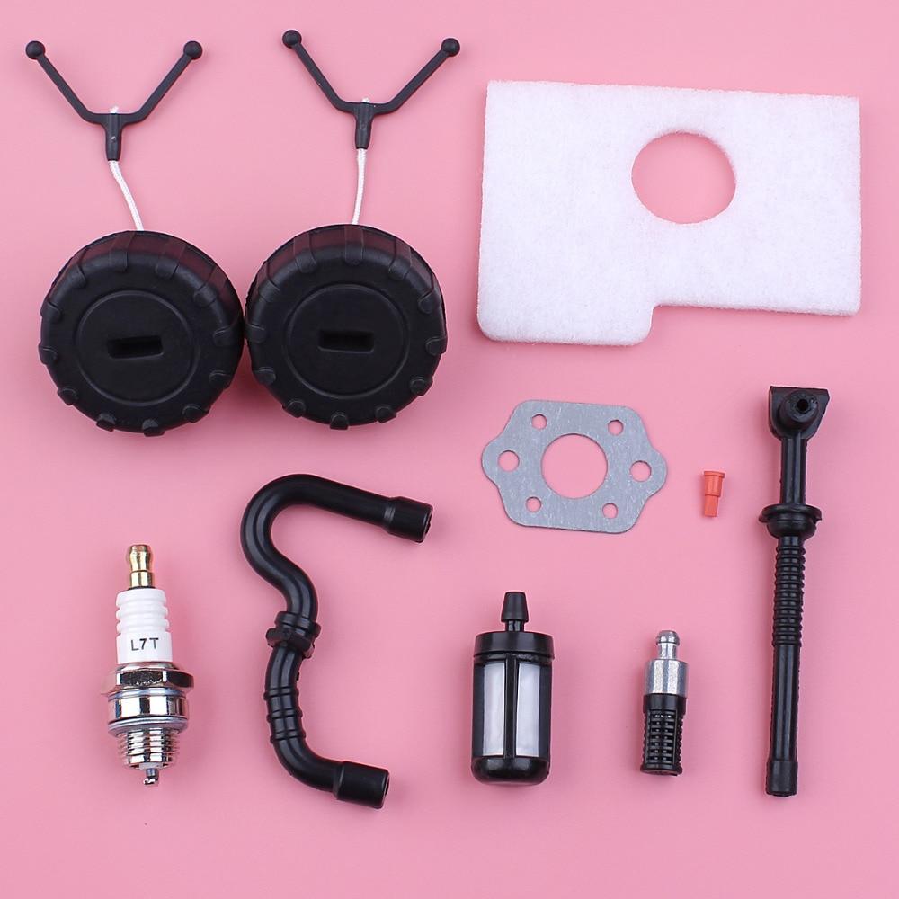 Kit de bujías de tapa de tubo flexible de filtro de aire de aceite de combustible para Stihl MS180 MS170 018 017 MS 180 170 parte de motosierra