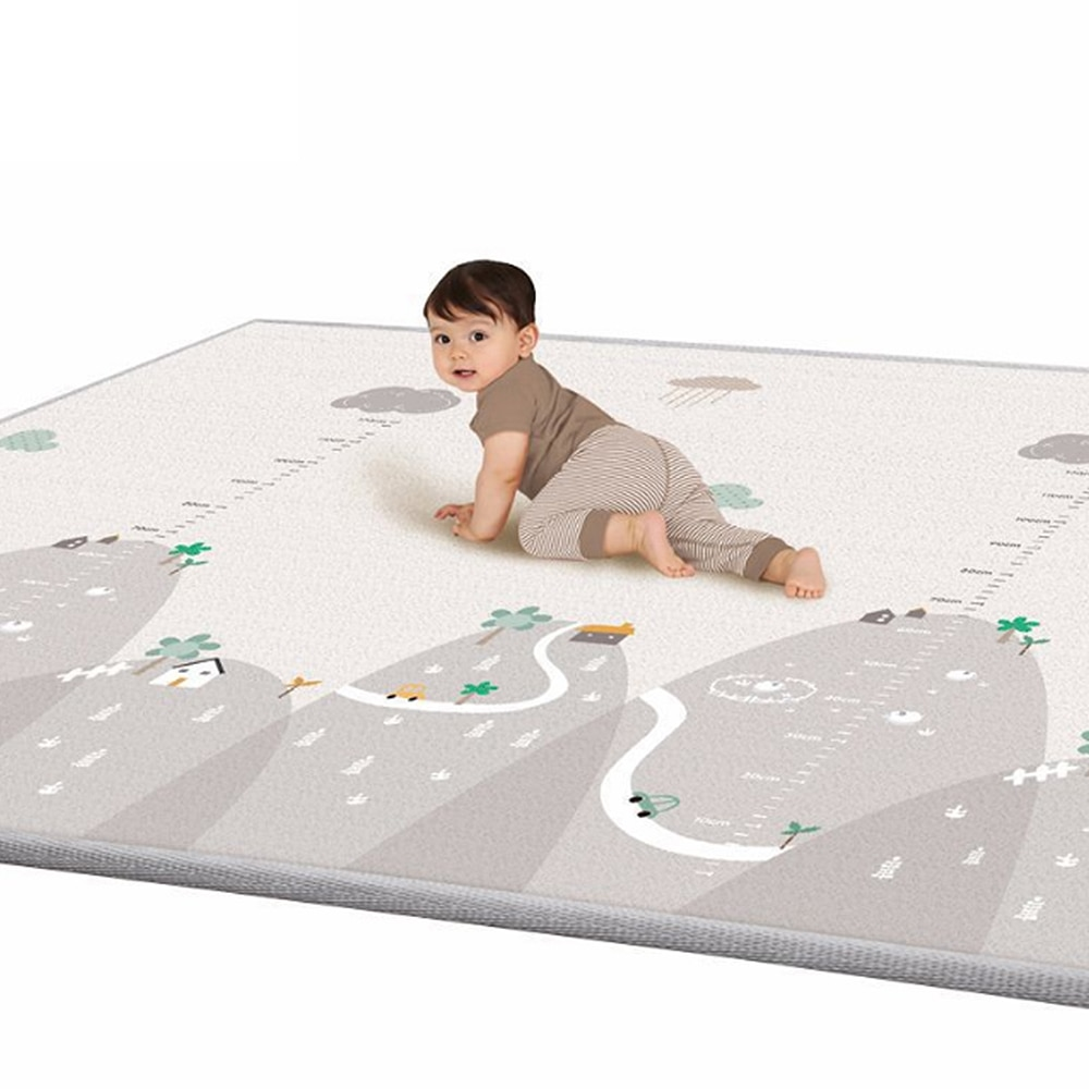 Nuevo Tapete Infantil de 1cm de espesor, alfombra para jugar al bebé, rompecabezas de espuma de tipo esteras Chico, bebé gatear, manta Infantil de 200*180cm