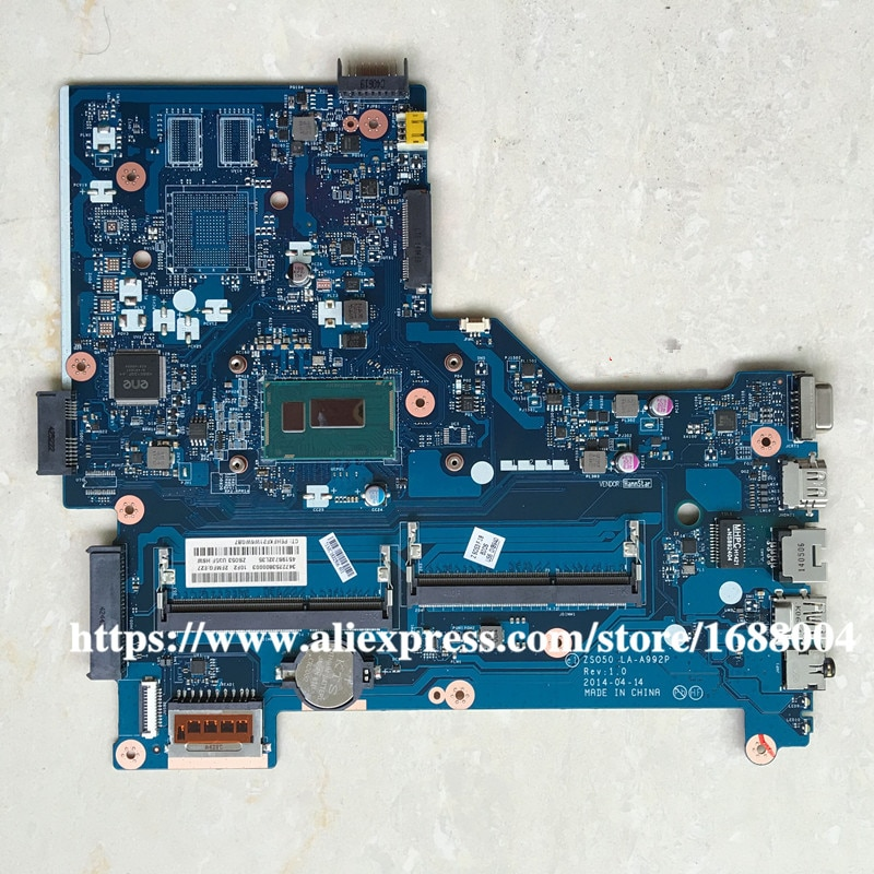 Para hp 15-r 250 g3 placa-mãe com i5-4210U cpu zs050 LA-A992P 761535-501 761535-001