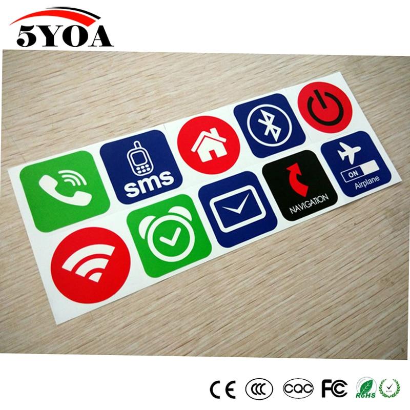 Метки NFC 10 шт./лот, наклейки NFC 213 13,56 МГц