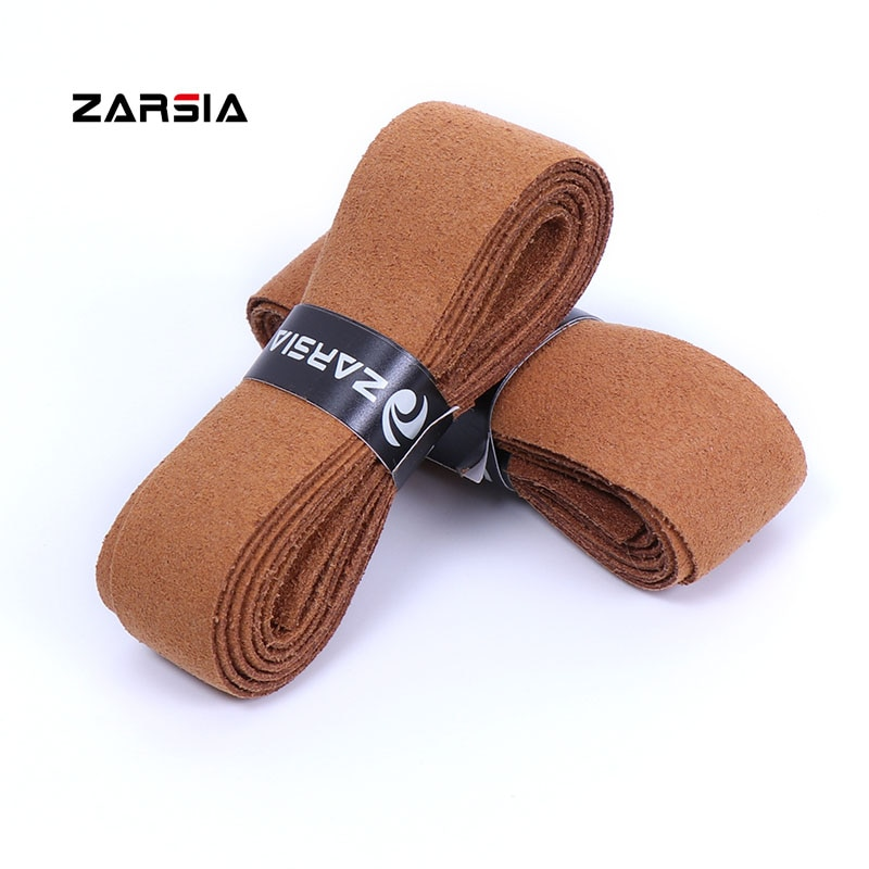 4pcs 2021 ZARSIA Abra Imitation leather Sweatband Tennis Racket grip Thick Black Leather Handle Grip for tennis racket