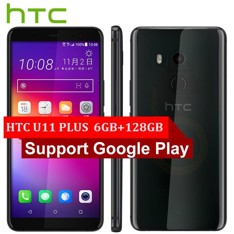 Marca Original HTC U11 más U11 + teléfono móvil 6GB de RAM 128GB ROM Snapdragon835 OctaCore 6,0 pulgadas 1440x2880px Android 8,0 IP68 NFC