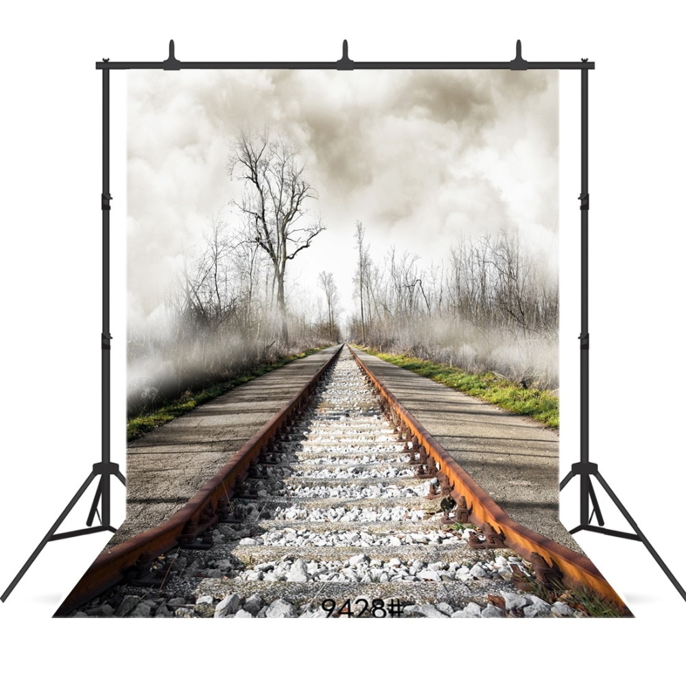 Flogged Forest  Photography Backdrops Railway Photo Backdrop for Child Vinyl Cloth Printed Photo Backgrounds Studio Photo Shoot