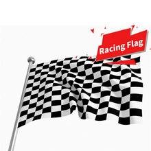 المحمولة سيارة متقلب العلم سباق إشارة أعلام أبيض وأسود منقوشة لافتات البوليستر ديكورات حفلات المنزل لعبة أدوات