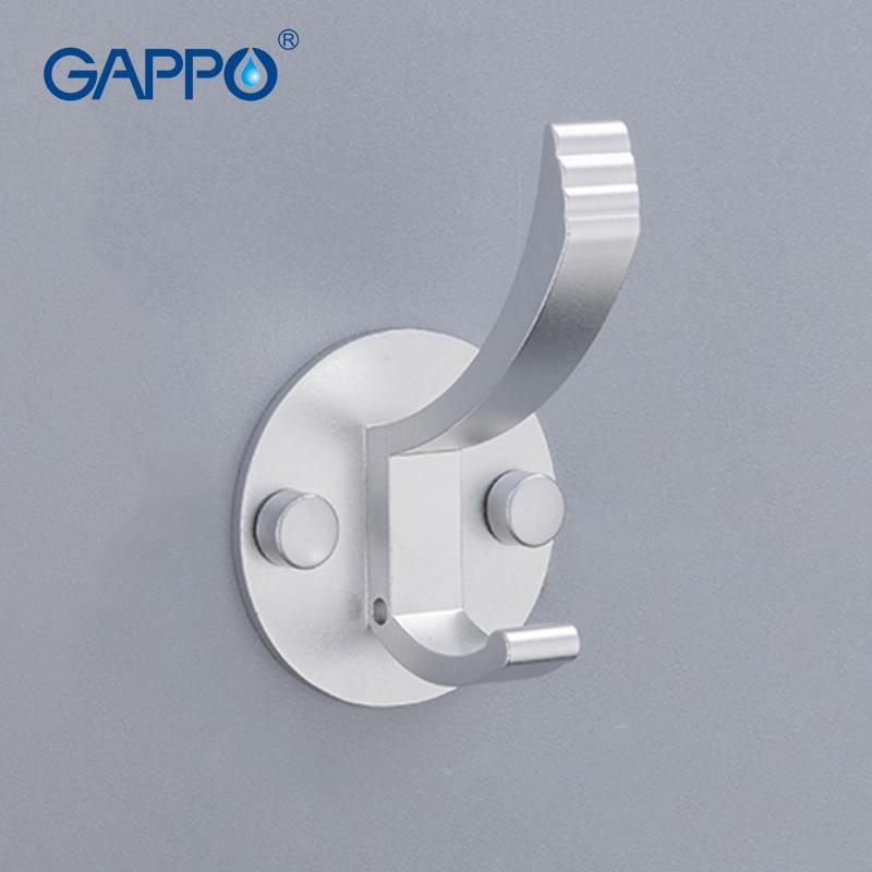 GAPPO-خطافات رداء من الألومنيوم ، خطافات حائط للملابس ، خطافات قبعة ، خطافات مطبخ لغرفة المعيشة ، خطاف معلق للباب الخلفي