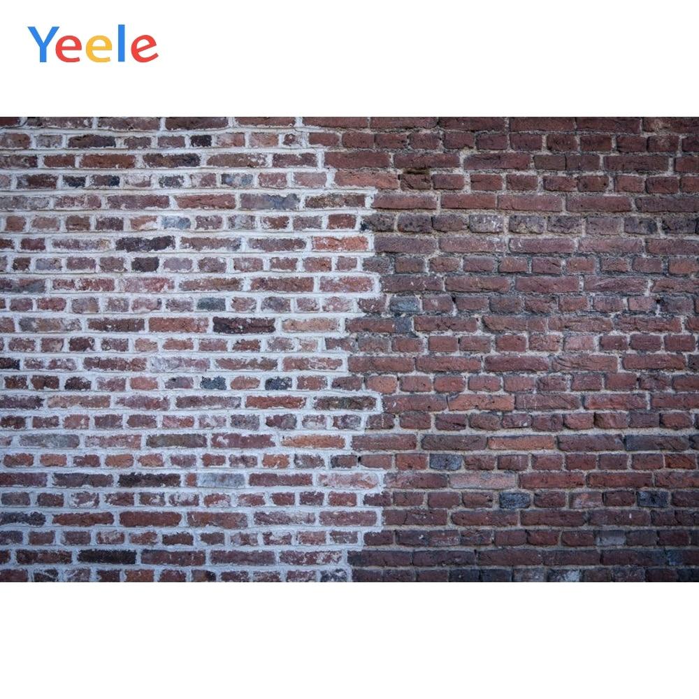 Fondos fotográficos personalizados Yeele, pared de ladrillo, Retro, dos lados, Color Chocolate, fondos para estudio fotográfico