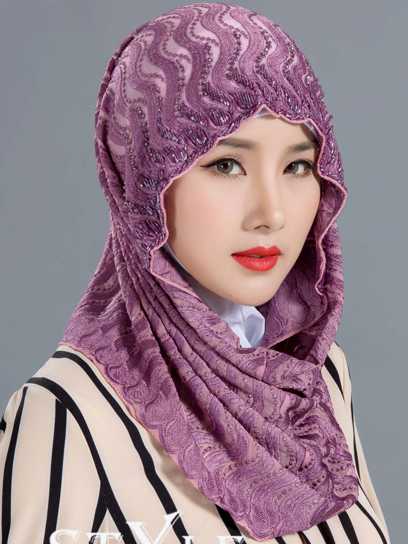 Мусульманский шарф, хиджабы для женщин, 2019