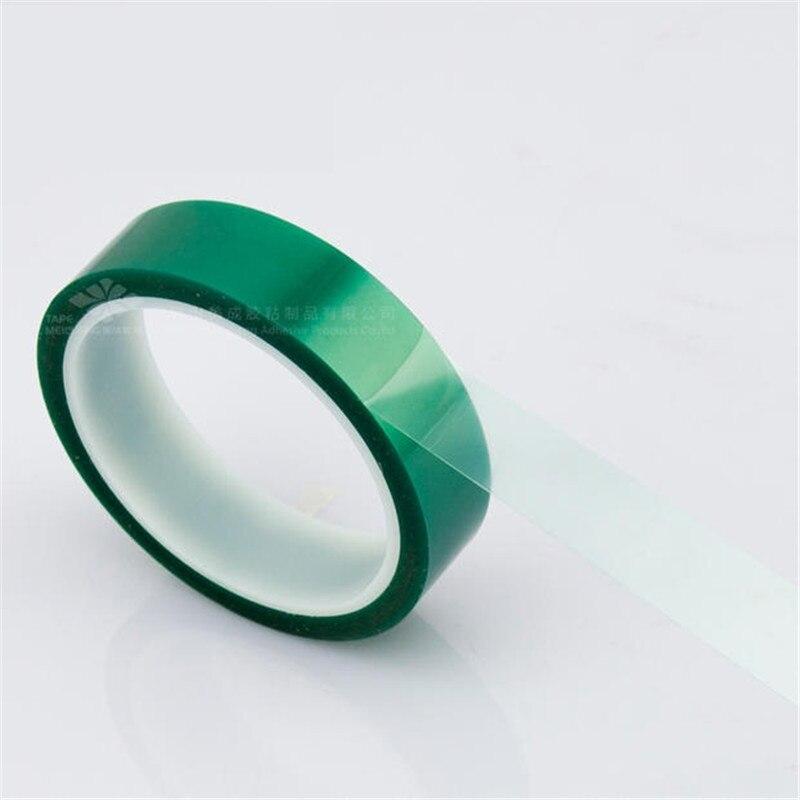 33 m * 20mm * 0.06mm de Alta Temperatura Fita PET Verde Fita Adesiva para PCB Solda Blindagem spray de solda de alta temperatura