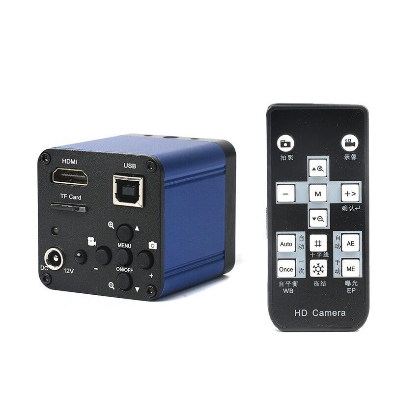 16MP 1080P USB HDMI outputs Microscopio de vídeo digital Industrial Cámara c-mount 4G TF tarjeta de almacenamiento de la imagen grabadora de vídeo