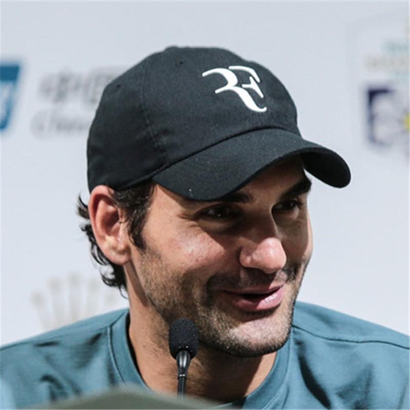 Новый теннис звезда Роджер Федерер кепки 3D вышивка папа бейсболки для женщин Бейсболка унисекс теннис F шапки дропшиппинг
