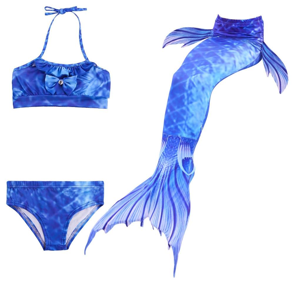 2018 New Ariel Children Swimming Mermaid Tail Girls Kids Swimsuit Swimmable Mermaid Tails Costume cosplay