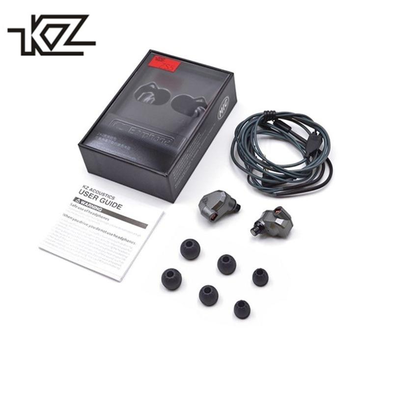 KZ ZS5 Baixo Pesado fone de Ouvido Estéreo Música Fones de Ouvido 2DD + 2BA Oito Unidades de Dinâmica e Equilibrada Armaduras Híbrido Fone de Ouvido para xiaomi