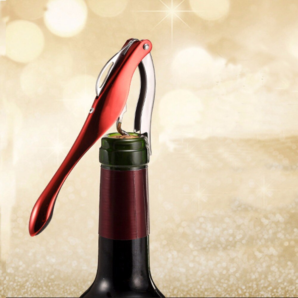 Sacacorcho de acero inoxidable abrebotellas de vino sacacorcho portátil barato tornillo sacacorcho para herramientas de Barra de Navidad