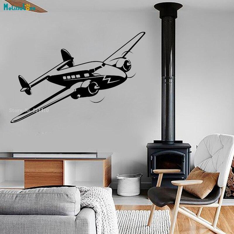 Cool Art Murais Da Parede do Vinil Decalque Avião Militar da Força Aérea Jet Fãs Auto-adesivo Home Decor para Adolescentes Menino decoração YT1402