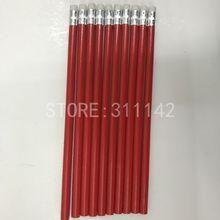 Kaliteli şirket okul iş ahşap kalem promosyon kalem kırmızı renkli kurşun kalem marka şirket adı özel logo