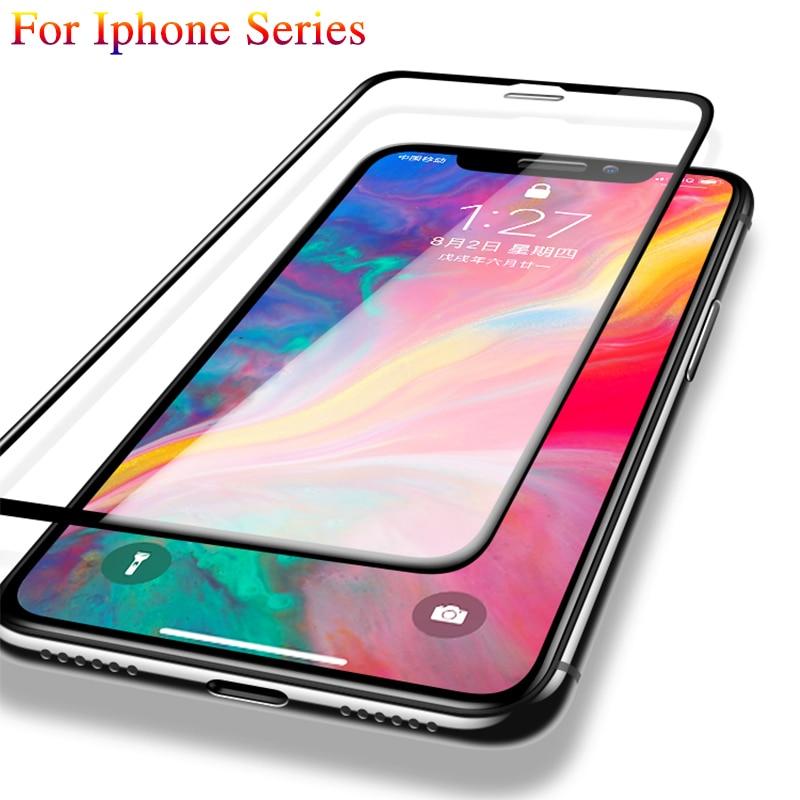 3D protectora de vidrio para iphone X vidrio templado iphone para iphone 7 8 plus 6 plus XR completa de la cubierta de protector de pantalla de cristal de la película