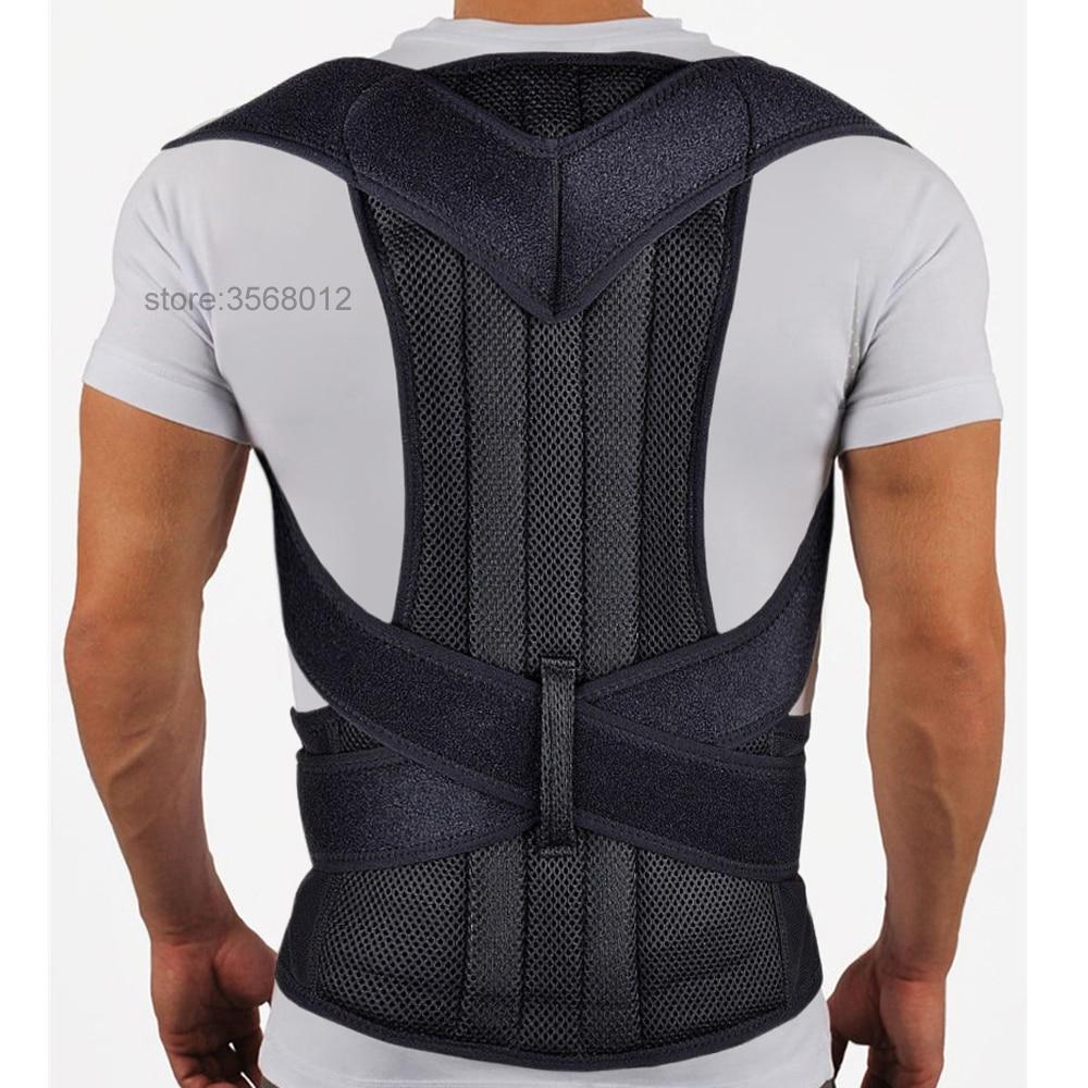 Cintura de neopreno culturismo ortopédico Corrector de postura corrección de Kyphosis Brace hombro columna espalda soporte cinturón hombres mujeres