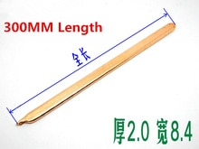 2PCS 300MM Pure Copper Flat Heat Pipe PC Heat Pipe Remould Heat Tube DIY 2.0mm,Width 8.4mm heat pipe