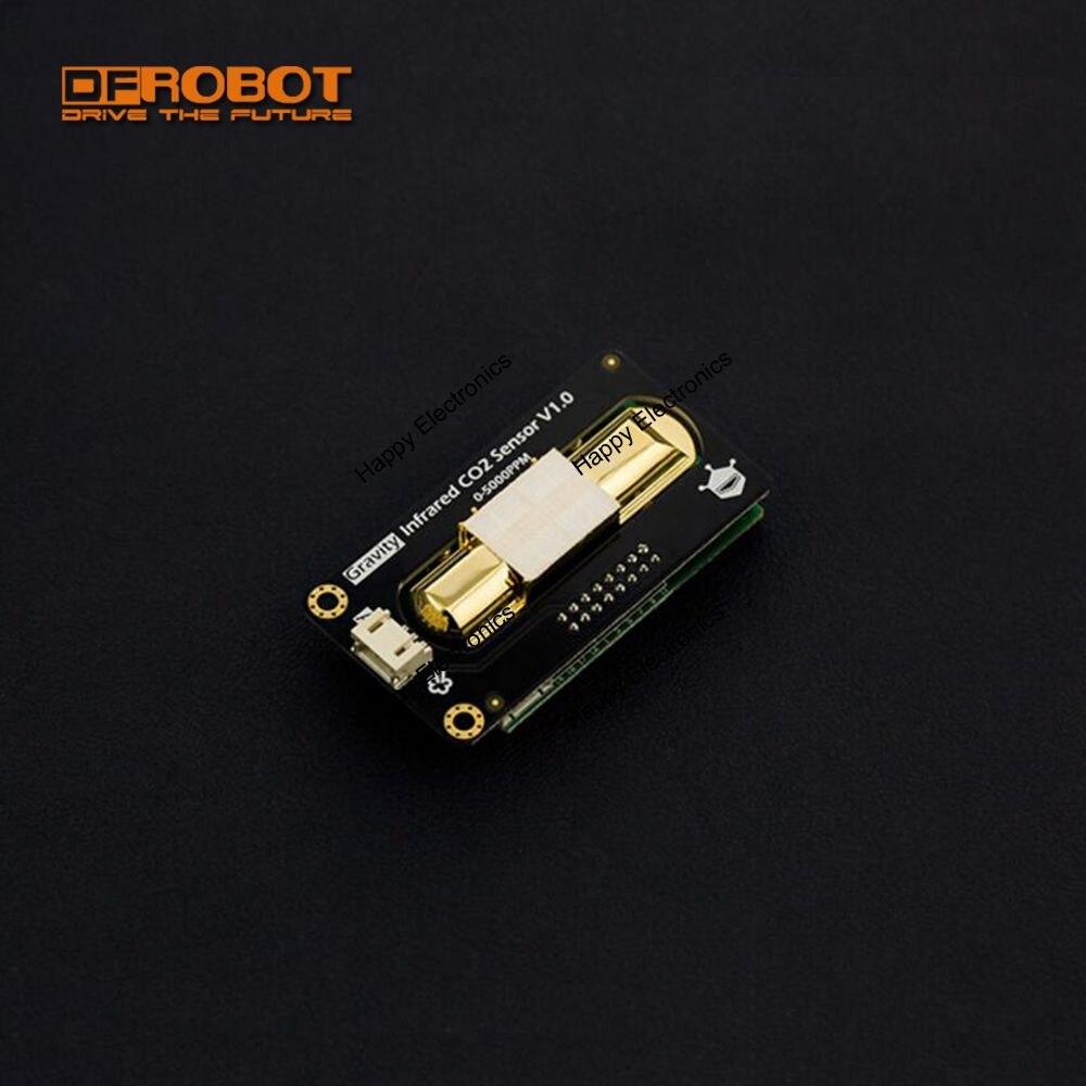 Sensor de CO2 infrarrojo analógico de alta precisión serie dfrobot gravity, 4,5 ~ 5,5 V DC DAC Salida 0 ~ 5000ppm resistente al agua compatible con Arduino