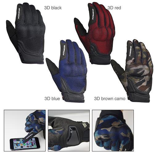 2018 para Komine GK194 proteger 3D de motocicleta de malla guantes transpirable seco 3D guante de Caballero 5 color