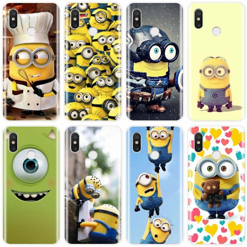 Mike Wazowski Cobertura TPU Caso de Telefone celular Para xiaomi 4 minions banana 4S 5 5C 5S 5S PLUS 6 6X8 Pro lite 8 8 9 SE MAX 2 3Pro