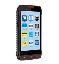 "Handheld Terminal 2D Laser Barcode Scanner Android 7.0 RFID Reader UHF PDA 5.0"" Data Collector Fingerprint Rugged Waterproof NFC"
