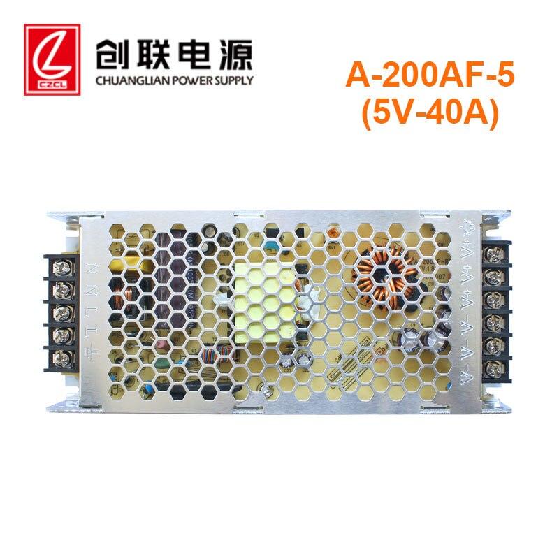 رقيقة جدا التبديل الطاقة 5v40A200w ، المدخلات الجهد 110 فولت/230 فولت ، في الهواء الطلق داخلي كامل اللون شاشة عرض فيديو ليد قوة مخصصة