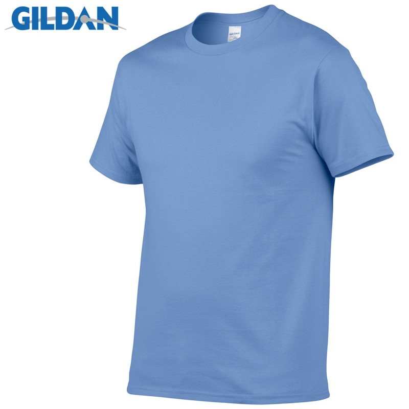 Camiseta GILDAN de color sólido para hombre, camisetas de algodón blanco y negro 100%, camiseta de Skate de verano, camiseta de skate para hombre, Tops de talla europea