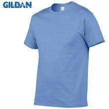 GILDAN einfarbig T Shirt Herren Schwarz Und Weiß 100% baumwolle T-shirts Sommer Skateboard T Jungen Skate T-shirt Tops Europäischen größe