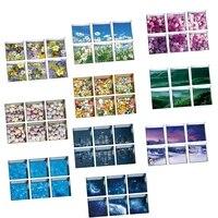 Autocollants de baignoire auto-adhesifs effet 3D  antiderapants  ensemble de 6 pieces 13x13cm 5 12x5 12inch