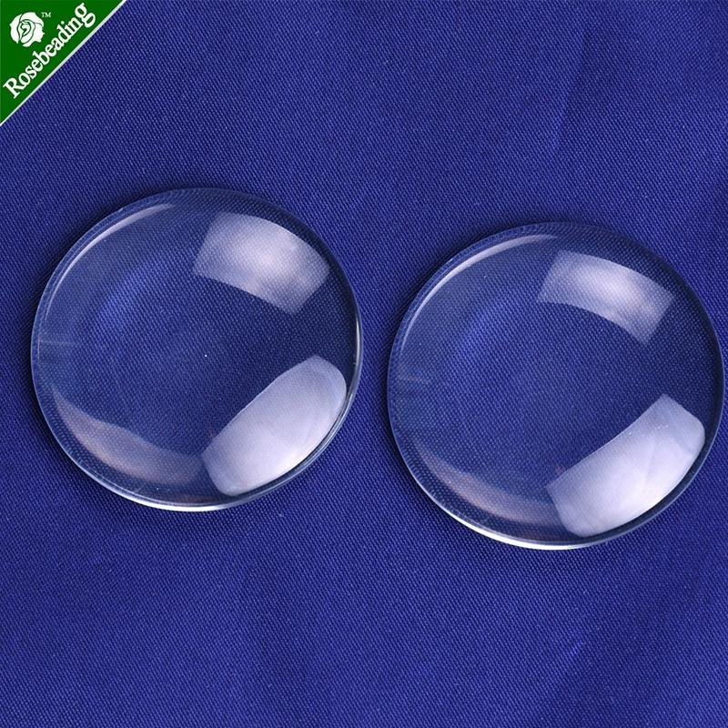 40mm Semi-esférica Hemisférica Claro Cúpula De Vidro Telha De Vidro Cabochão Cúpula De Vidro Cabochão Cameo Cristal Ampliação Tampa Da Base