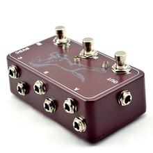Nouveau commutateur de pédale à effet 3 Looper-3 pédale de boucleur de guitare avec boîte à pédale 125B