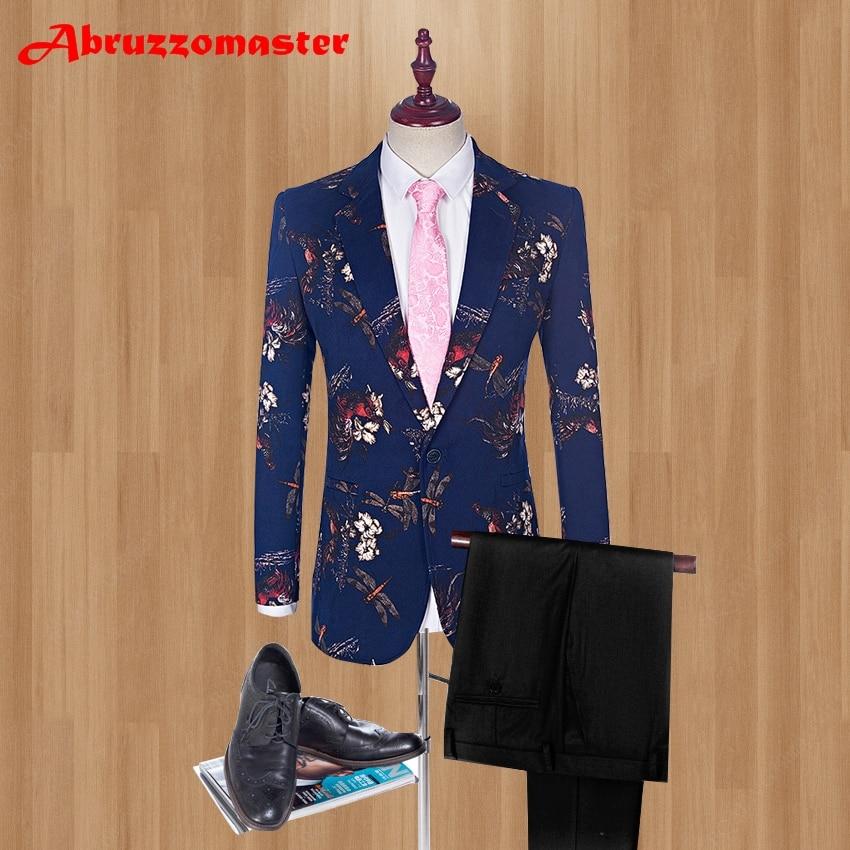 بدلة زفاف رجالي, بدلة عريس رسمية مطبوعة 2021 بدلة رجالي لحفلات الزفاف سترة + بنطال